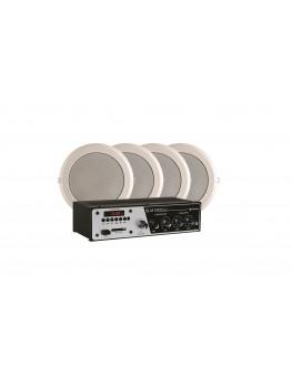 Kit Sonorização com 4 Arandelas e 1 Amplificador Slim 1000 Frahm