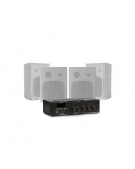 Kit Sonorização com 4 Caixas PS200 e 1 Amplificador Slim 1000 Frahm