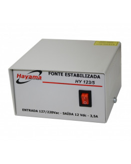 FONTE ESTABILIZADA HY 3.5 AMP.12VDC