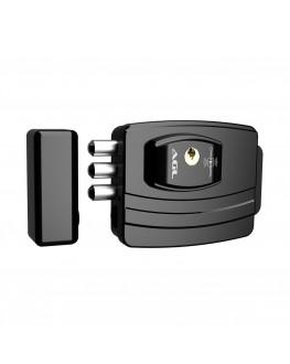Fechadura Eletrônica 12V Ultra Card Ajustável Preta AGL